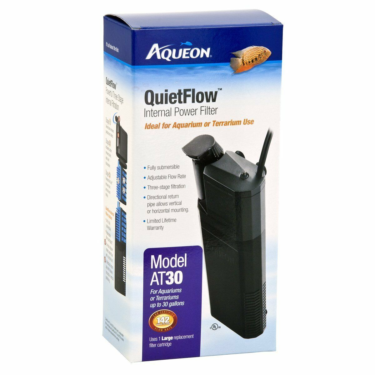 Aqueon QuietFlow Internal Filter 30 gal