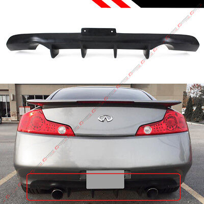 FITS 2003-2007 INFINITI G35 V35 2DR COUPE JDM SHARK FIN REAR BUMPER DIFFUSER LIP for sale  Shipping to Canada