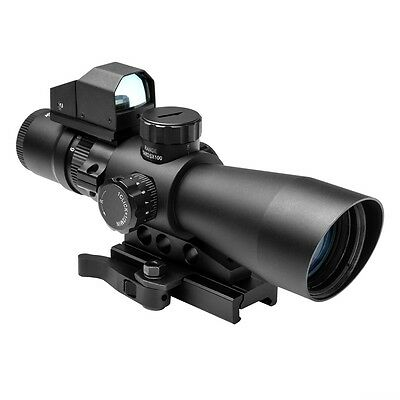 NcStar STM3942G/DV2 Mark III Tactical Mil-Dot 3-9X42 Scope with Red Dot Sight