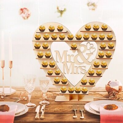 Wood Wedding Chocolate Heart Tree Decor Chocolate Stand Wedding Display Supplies ()