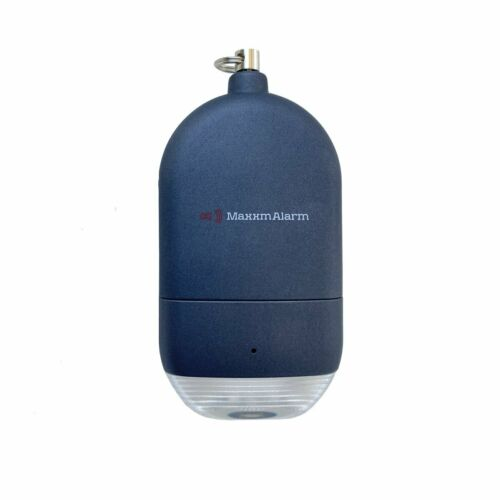 MaxxmAlarm Personal Alarm + LED Light in Blue