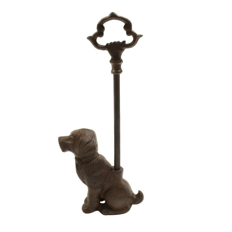 Cast Iron Heavy Pet Dog Portable Door Stopper Porter Jam Stop Animal Home Decor