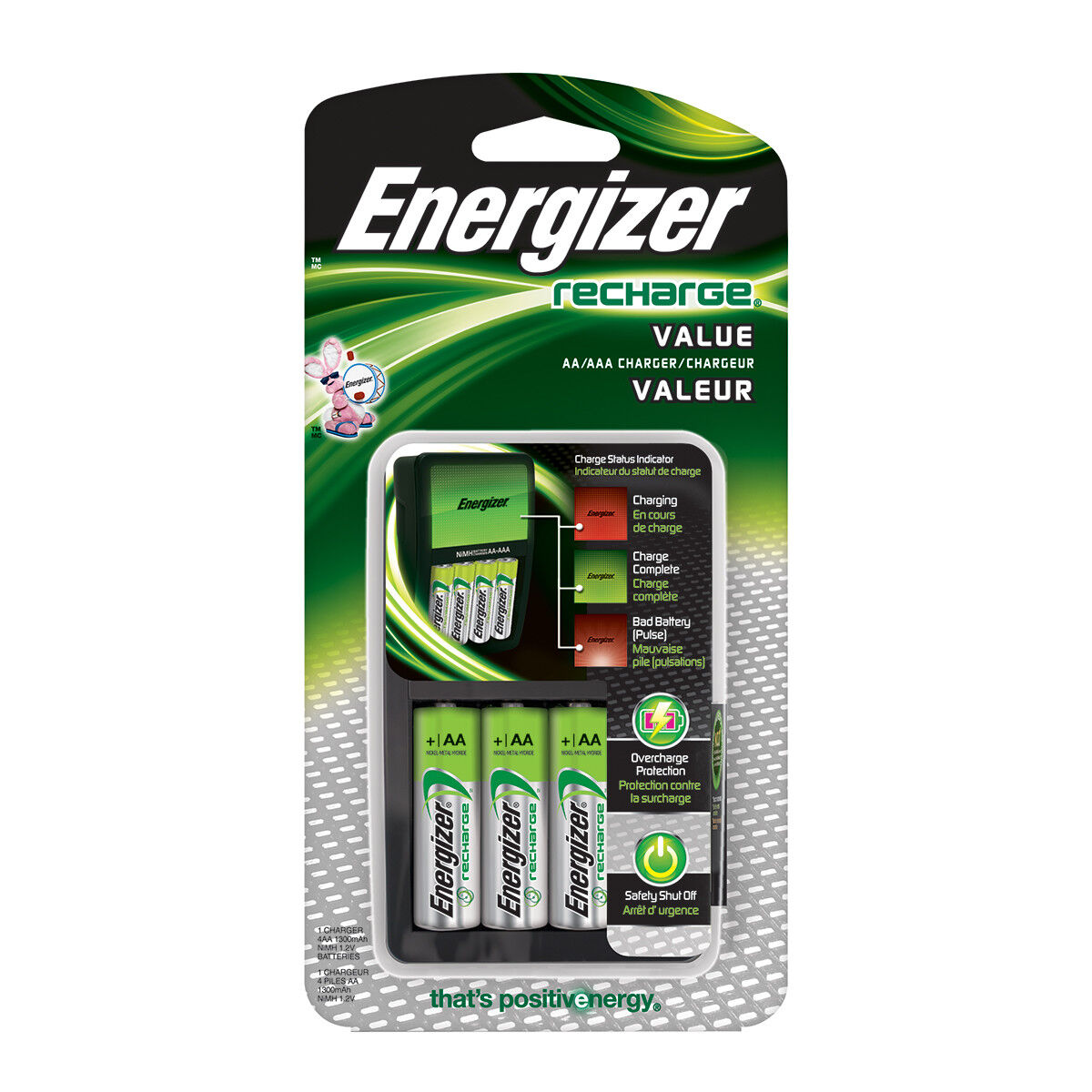 Energizer Value Charger Aa/Aaa W/4 Aa Ni-Mh Batt Incl