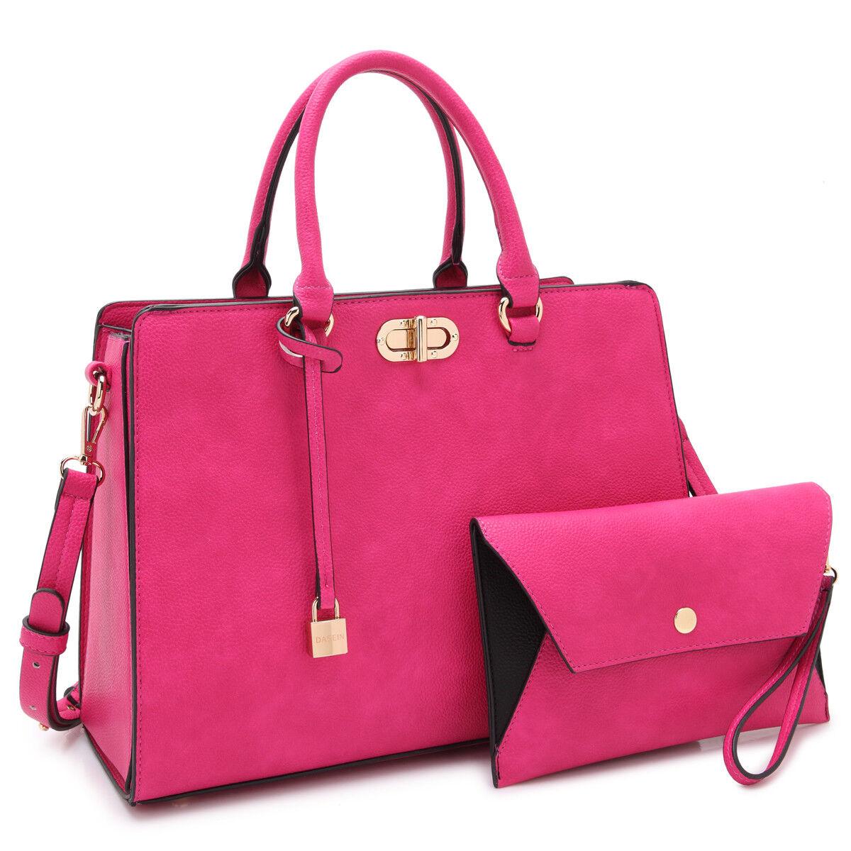 Dasein Women Handbag Faux Leather Satchel Tote Shoulder Bag