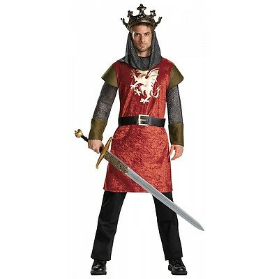 Arthur Halloween-kostüm (King Arthur Costume Adult Medieval Knight Halloween Fancy Dress)