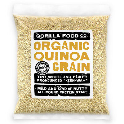 Gorilla Food Co  Organic White Quinoa Best Quality   1Lb