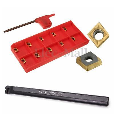 S10k-sclcr06 Lathe Boring Bar Turning Holder10pcs Ccmt060204-hm Carbide Inserts