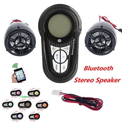 Waterproof Bluetooth Motorcycle Audio Amplifier Stereo Speaker System Mp3 Usb Sd