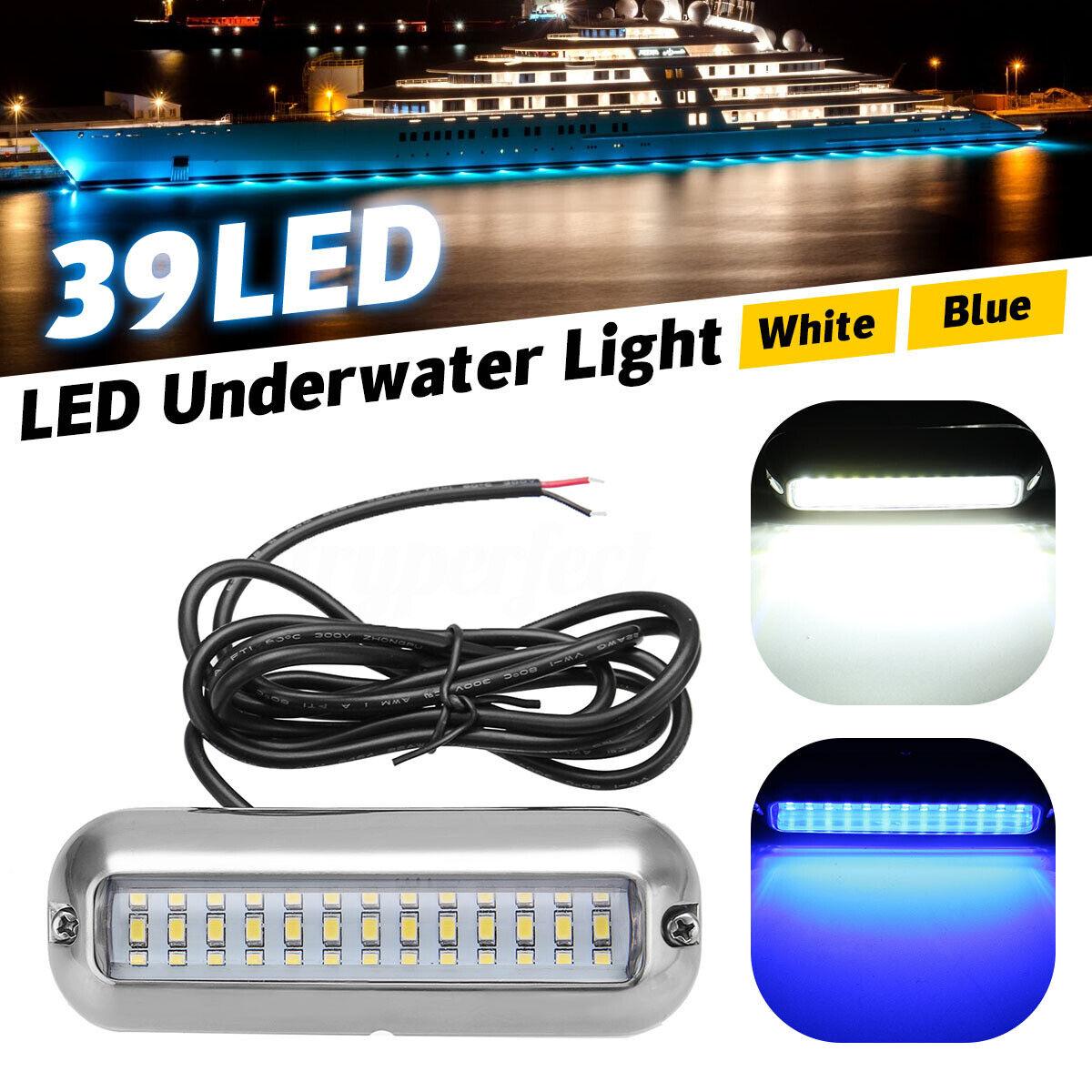2pcs 4.7/'/' Bootsbeleuchtung 39 LED Unterwasser Beleuchtung Licht Lampe Angeln