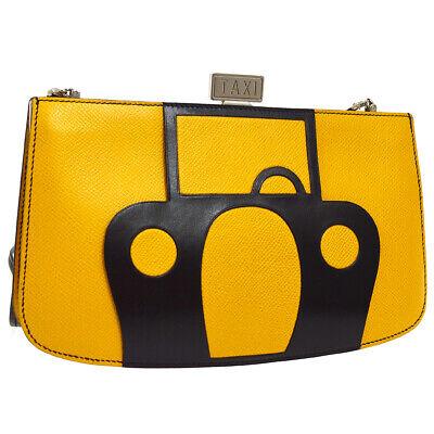 HERMES Taxi Motif Sac A Malice Pochette Shoulder Bag Couchevel Vintage 00370