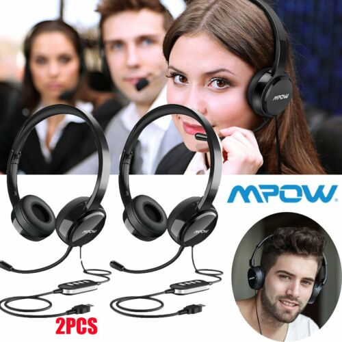 MPOW Gaming Headset USB+ 3.5mm Stereo Headphone with Mic for