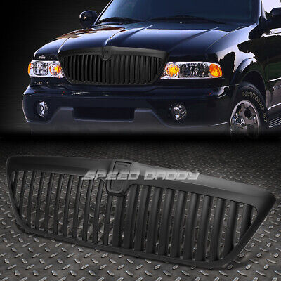 FOR 98-02 LINCOLN NAVIGATOR UN173 ABS BLACK FRONT SPORT BUMPER VERTICAL GRILLE - Lincoln Navigator Bumper Grille