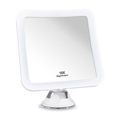 10X MAGNIFYING LIGHTED MAKEUP MIRROR Daylight LED Vanity Bathroom Travel - Magnified Vanity Mirror