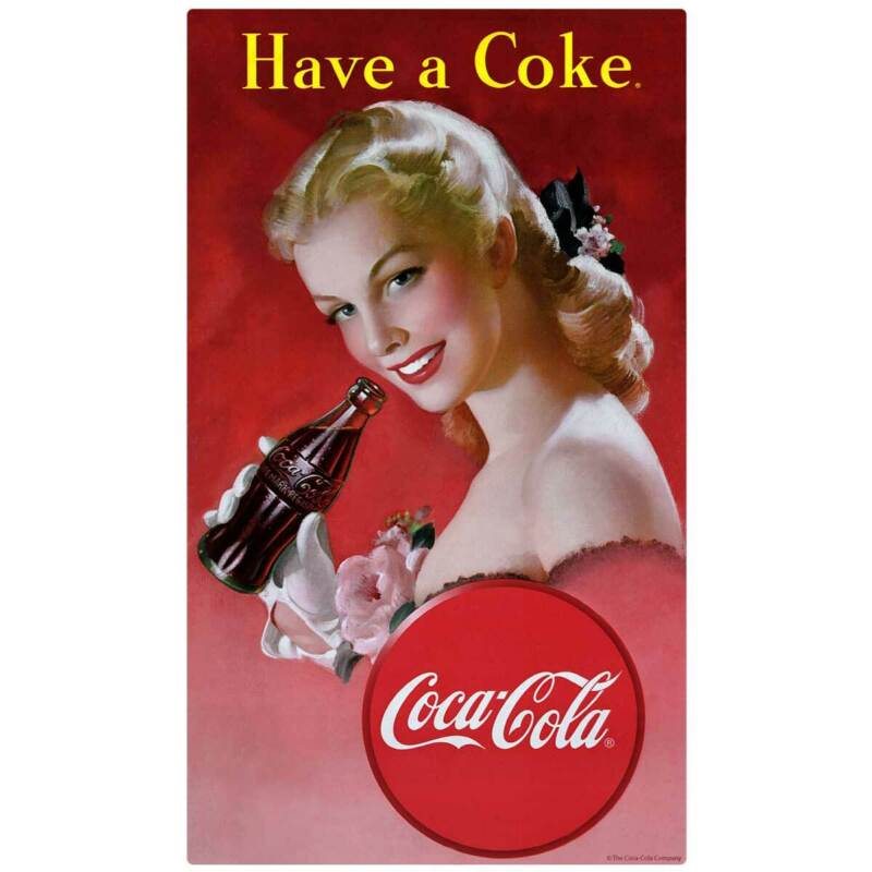 Have a Coke Girl Decal Peel & Stick Wall Graphic