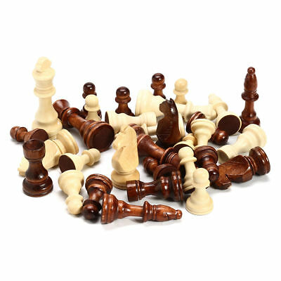 New Wooden International Chess Set 32 Pieces 6 Different Size Available 2 Colour