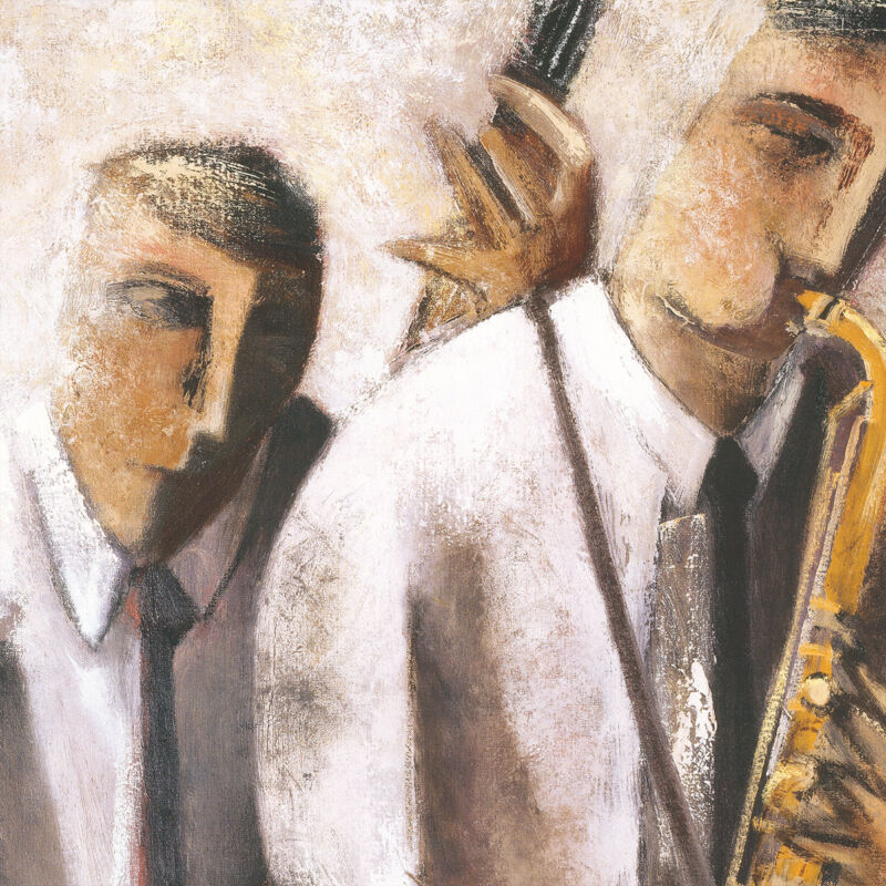 "36W/""x24H/"" BLACK /& WHITE by DIDIER LOURENCO JAZZ MUSIC FESTIVAL CONCERT CANVAS"