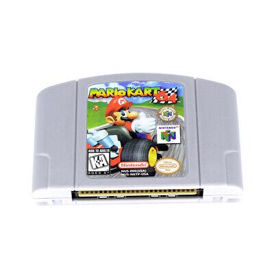 Nintendo N64 Game Mario Kart 64 Video Game Cartridge Card US Version NY STOCK