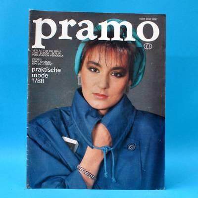 DDR Pramo 1/1988 Praktische Mode Schnittmuster P Schulfasching Mollige sportlich