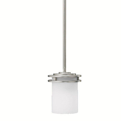 Kichler Lighting 3475NI 1-Light Hendrik Incandescent Mini Pendant Brushed Nickel