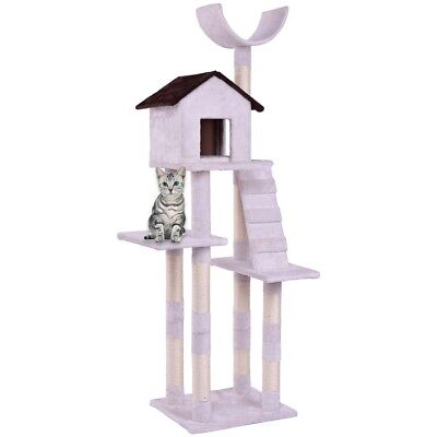 Cat Tree Condo Bell-tower Scratching Posts Pet Kitten Furniture Play House w Ladder