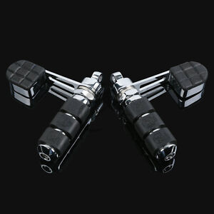 New Anti Vibe Vibration Chrome Stirrup Heel Foot Rest Pegs For Harley Softail