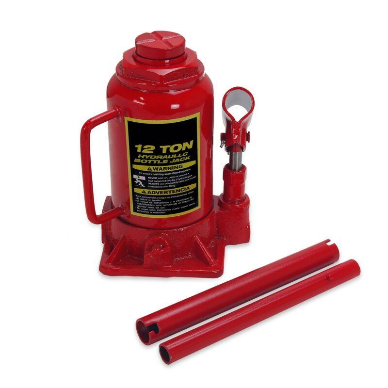 12 Ton Hydraulic Low Profile Bottle Jack Lift Heavy Duty Automotive Car Truck