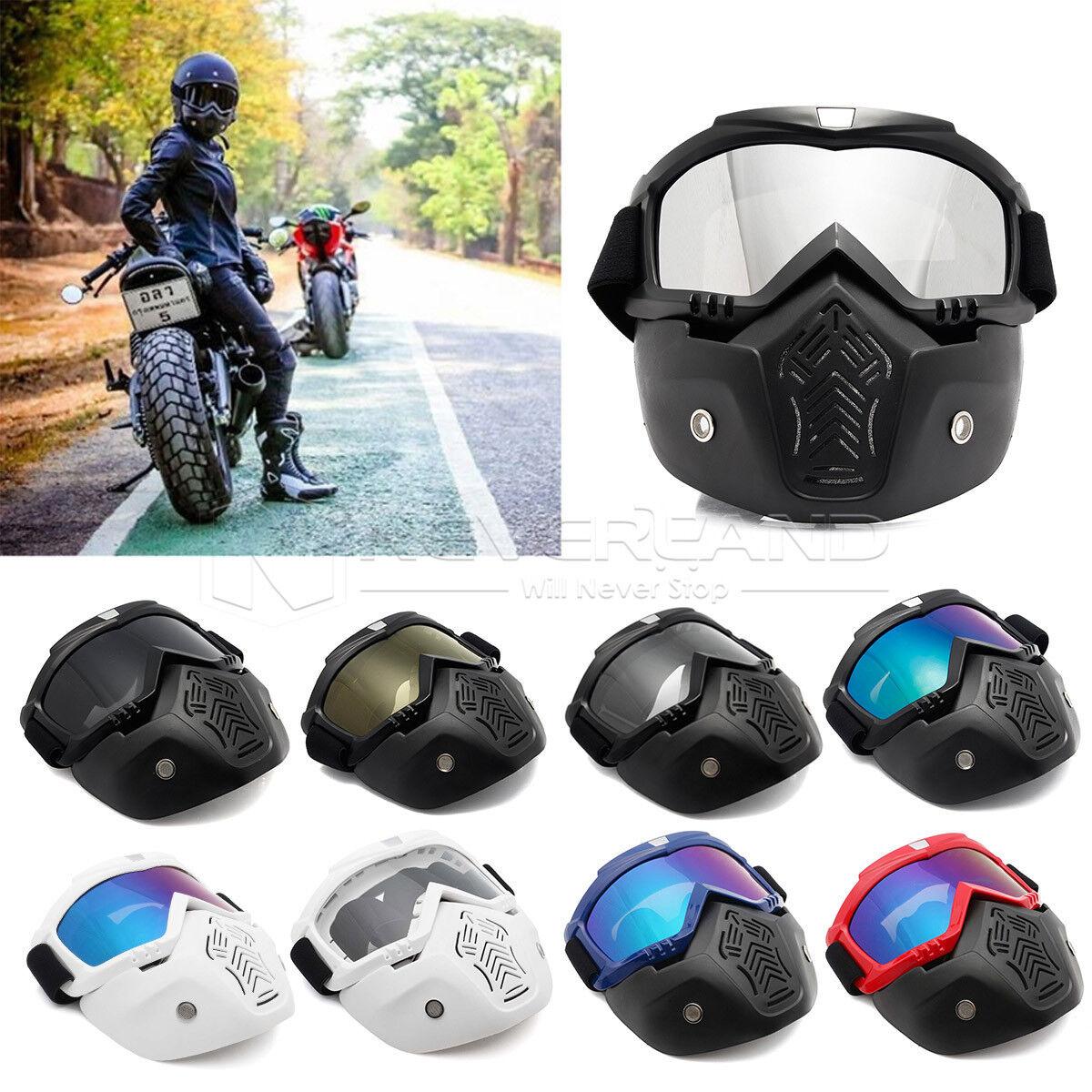 UV Len Flexible Goggles Glasses Face Mask Motorcycle Riding ATV Dirt Bike Safety