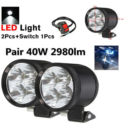 2X 40W U22 LED WORK LIGHT SPOT MOTORCYCLE DRIVING FOG HEADINGHT LAMP 1
