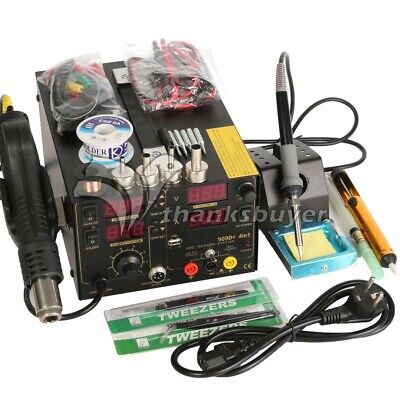3in1 Soldering Rework Station Hot Air Gun Dc Power Supply With 909d Full Acc.