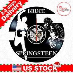 Bruce Springsteen Vinyl Clock Record Art Wall Decor LP Fans Christmas Gifts