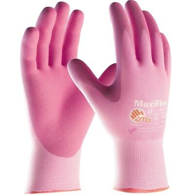 Maxiflex Active Nitrile Coated Nylon Lycra Work Gloves Pink