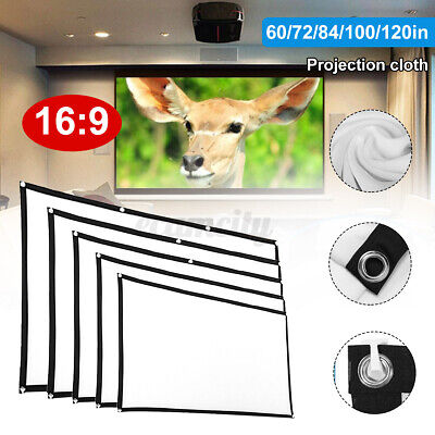 120 inch 16:9 Portable Foldable Projector Screen HD Home Theater Outdoor New