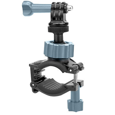 Action Camera Handlebar Mount with Tripod Screw and Action Style Mounting