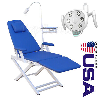 Usa Portable Dental Mobile Chair With Rechargeable Led Light Oral Lamp Led Light