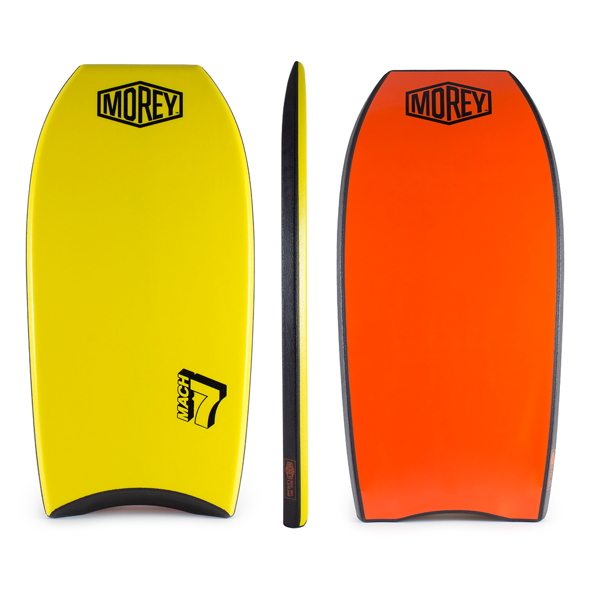 Morey Bodyboard Mach 7 Dual Power Rod Stringers PE Core