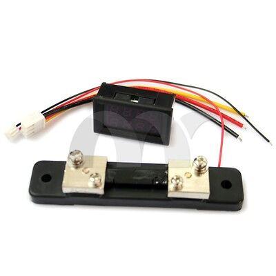 DC 0-100V 0-50A Red Blue Dual LED Digital Voltmeter Ammeter Voltage + Shunt
