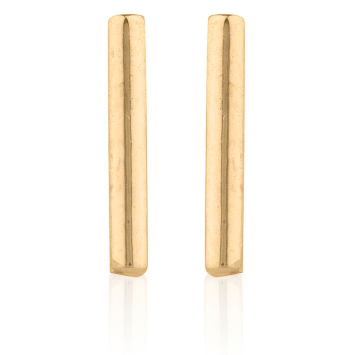 96663deb8 14K Solid Yellow/White/Rose Gold Plain T Bar Push Back Stud Earrings 8mm