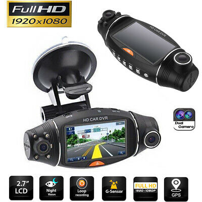 Dual Lens LCD Car DVR Camera Full HD 1080P Dash Cam Video Recorder G-sensor NEW