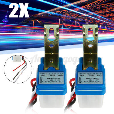 2x Automatic Auto Night On Day Off Street Light Switch Photo Control Sensor