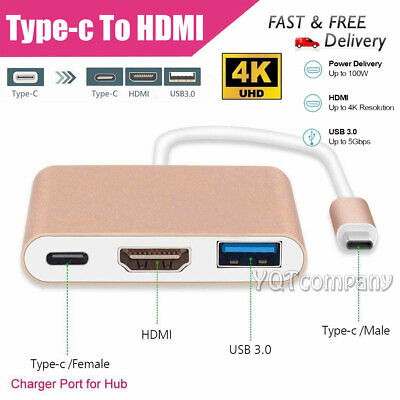 Hot USB Type C to HDMI HDTV TV Cable Adapter Converter For Macbook Android Phone