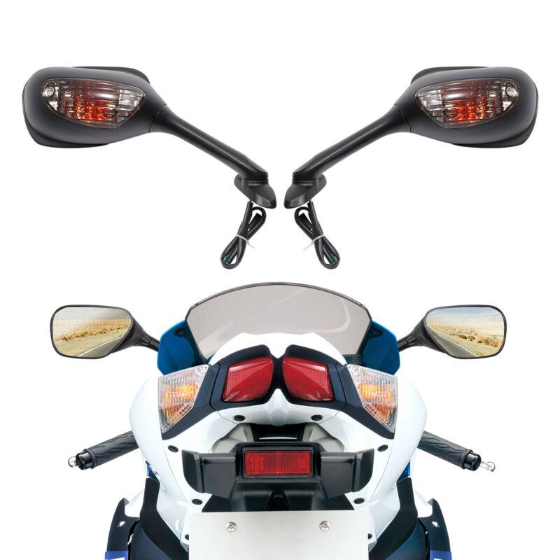 Rear view Mirror W// Turn Signal Light For Suzuki GSXR1000 GSX-R 1000 2005-2015