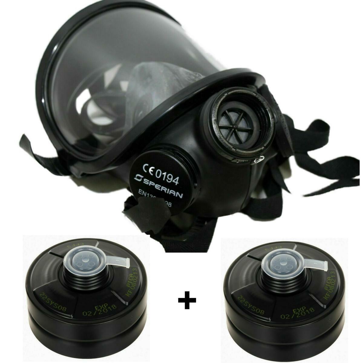 Schutzmaske Fernez Vollgesichtsmaske RD40 2 x Filter Atemschutz Gasmaske Militär