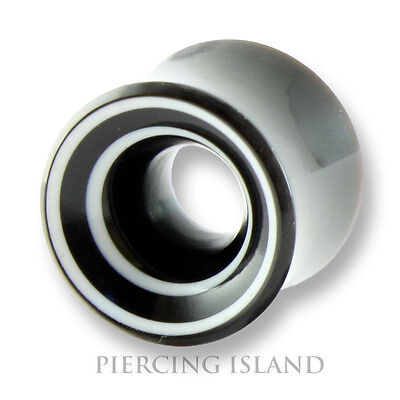 Horn Flesh Tunnel - 6mm - 16mm HORN BONE Flesh Tunnel Ear Plug Tube Ohr Piercing 275