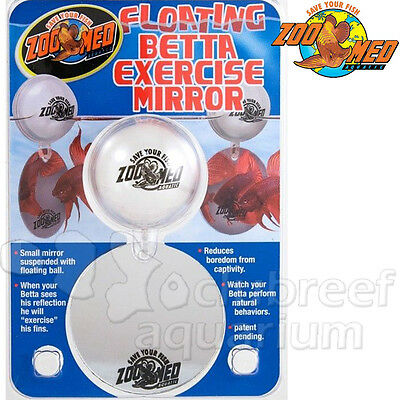 Floating Betta Exercise Mirror Fighting Fish Bowl Suspended Mirror Ball Zoo Med