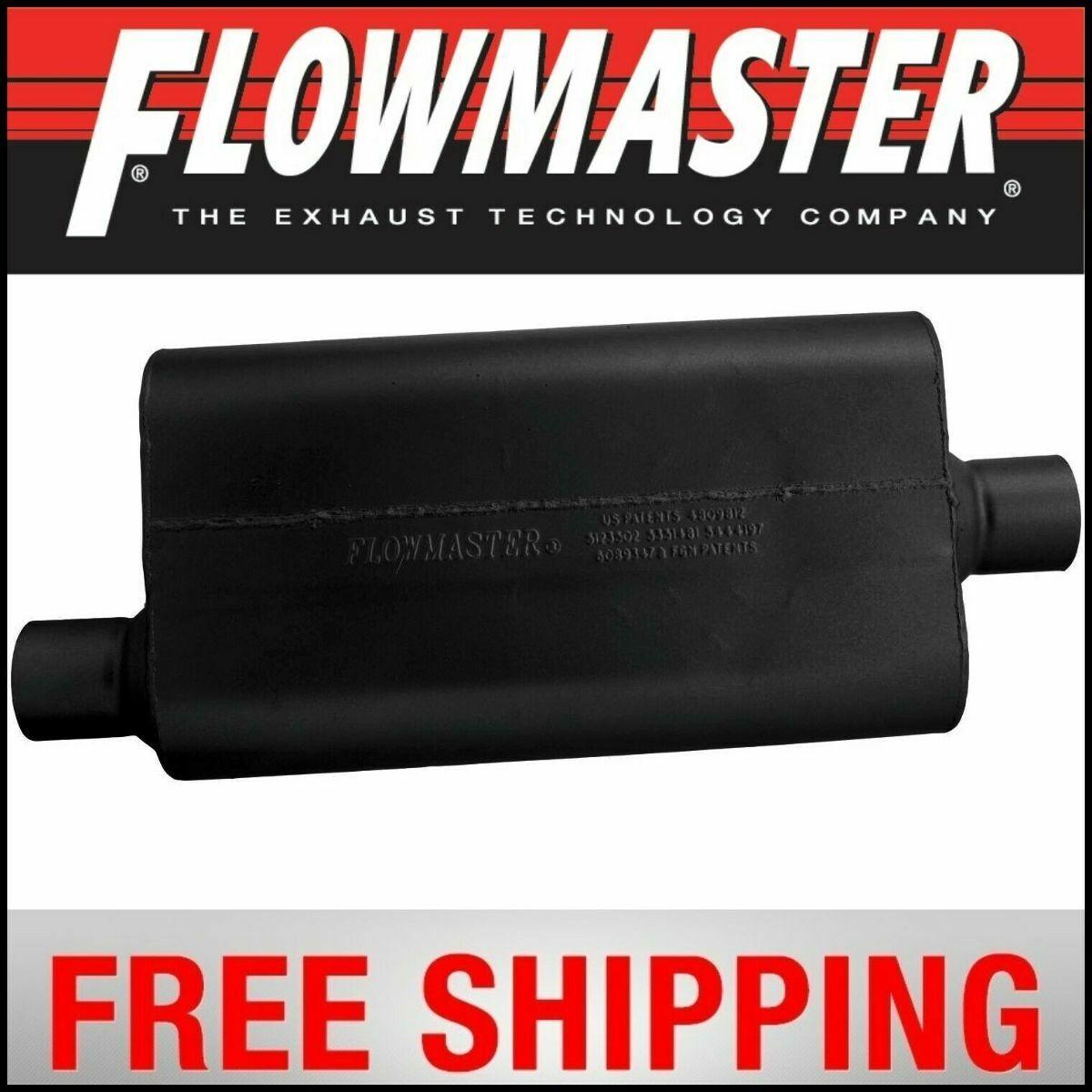 2.50 Center OUT 2.50 Offset IN Flowmaster 942551 50 Delta Flow Muffler Moderate Sound