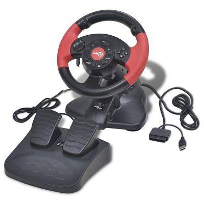 Lenkrad Pedale Gas Bremspedale Steering Wheel Vibration Feedback für PS2/PS3/PC online kaufen