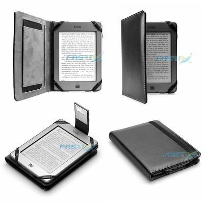 PREMIUM BLACK PU LEATHER KINDLE TOUCH / 4 WiFi CASE COVER WALLET WITH SLIM