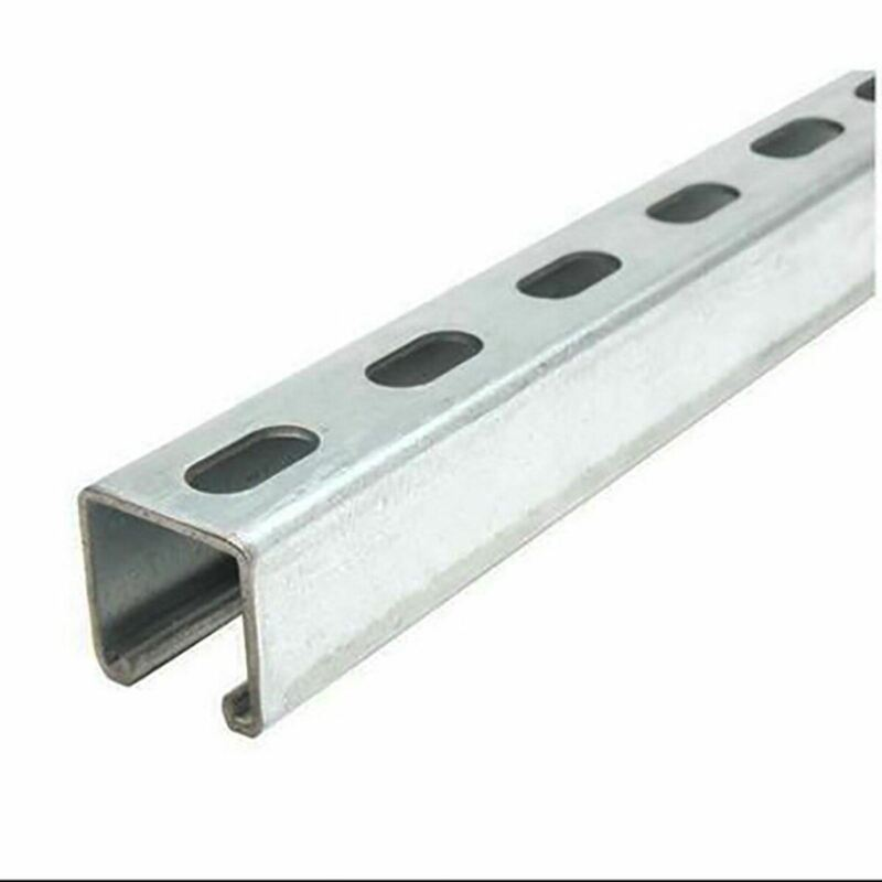 "Galvanized Steel, Slotted Strut Channel, 1-5/8"" x 1-5/8"" x 12 ga. x 60 inches"