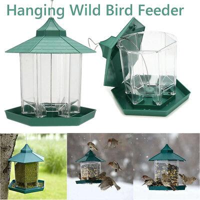 (Waterproof Hanging Gazebo Wild Bird Feeder Outdoor Feeding For Garden Decoration)