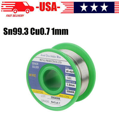 Lead Free Solder Wire Sn99.3 Cu0.7 With Rosin Core For Electronic 50g 1.0mm